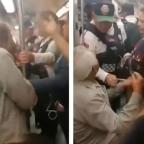 Por un lugar: mujer corre a abuelito por ingresar a zona exclusiva del Metro