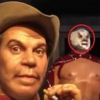 ¡Aterrador! Difunden video de figura de cera de El Santo moviendo sus ojos