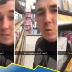 Detienen a joven por lamer productos del supermercado; lo acusan de terrorismo