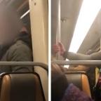 Captan a hombre embarrando saliva en el Metro; podría tener coronavirus