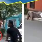 Indigna caso de mujer desmayada en la calle; nadie la ayudó por miedo al COVID-19