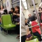 Otro ángulo: la pelea entre mujeres tras correr a abuelito de vagón del Metro