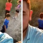¿Abandono? La broma de un padre a sus hijos en el campo (VIDEO)