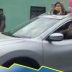 Familia celebra baby shower en la calle por culpa de la cuarentena (VIDEO)