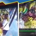 Nace #LadyCelular: la mujer que robó aparato en puesto de frutas