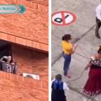 Redes repudian a mujer por lanzar huevo a mariachis en Colombia (VIDEO)