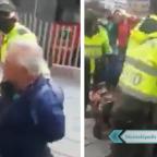 Indigna video de abuelito que fue detenido por vender dulces en la calle