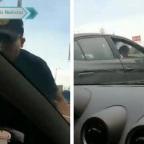 Sujeto indigna a redes por romper cristal a un auto en CDMX (VIDEO)