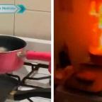 Mujer se hace viral por intentar cocinar Nuggets y casi quemar su cocina