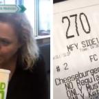 Madre se hace viral por pedir hamburguesa sin nada y se la entregan sin pan