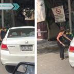 Nace #LadyChancla después de atacar a policía en la Ciudad de México (VIDEO)