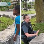 Policía consuela a niña que lloró al pensar que la arrestarían por ser afroamericana