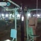 Policías captan supuesto fenómeno paranormal en parque (VIDEO)