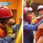 Familia de Indonesia termina en pozo por tomarse una selfie (VIDEO)