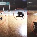Cámaras de seguridad captan el momento en que una silla de ruedas se mueve sola
