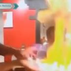 Estilo de fuego: chef imita ninjutsu como en el anime Naruto (VIDEO)