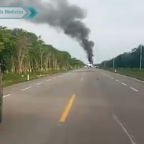 Mira los videos de la avioneta desplomada en Quintana Roo; se cree que era de narcos