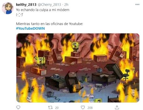 falla en YouTube 18
