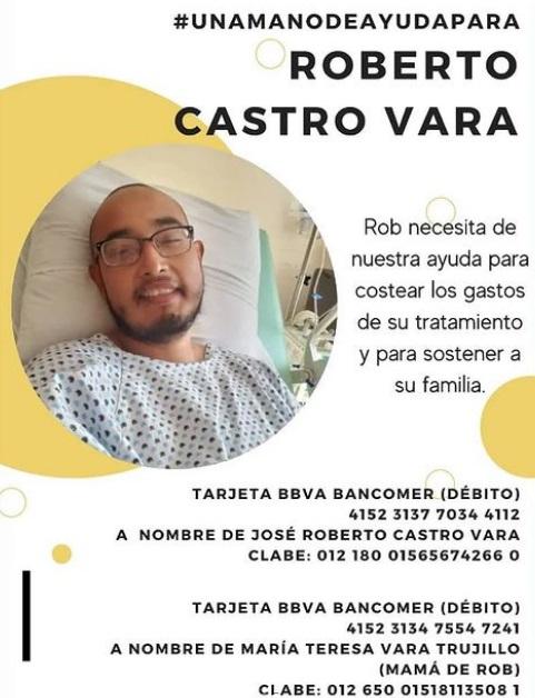 hombre pide apoyo para vencer el cancer 1