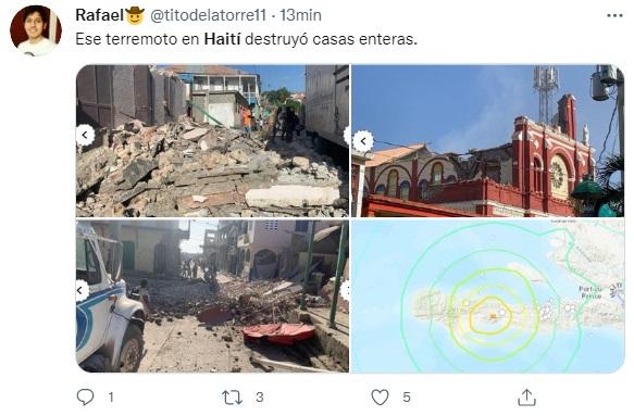 La situación es dramática tras el terremoto